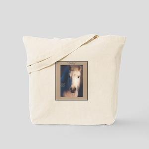 Horse-White-Pony-Wild-Art Tote Bag