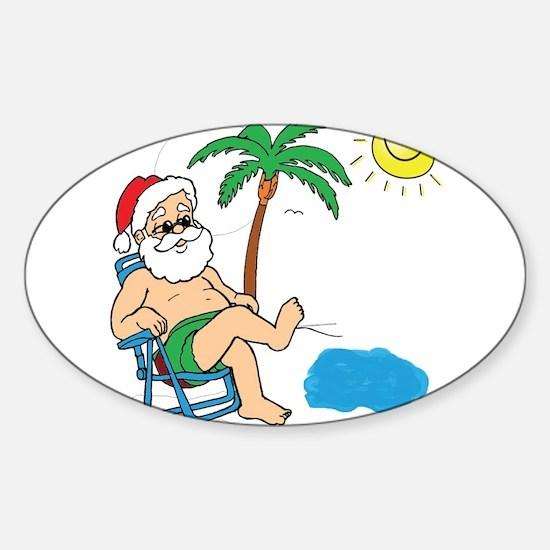 Santa Vacation Decal