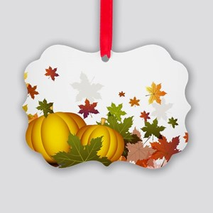 Thanksgiving Pumpkins Picture Ornament