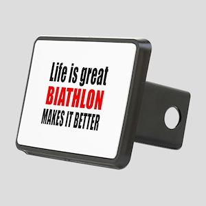 Life is great Biathlon mak Rectangular Hitch Cover