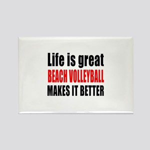 Life is great Beach Volleyball ma Rectangle Magnet