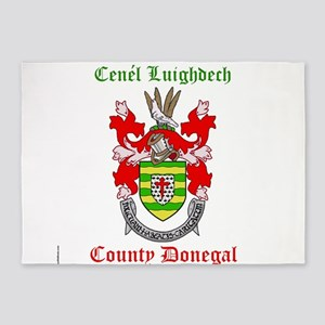 Cenel Luighdech - County Donegal 5'x7'Area Rug