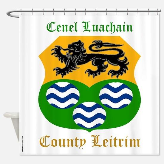 Cenel Luachain - County Leitrim Shower Curtain