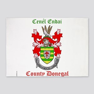 Cenel Endai - County Donegal 5'x7'Area Rug