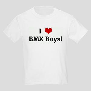 I Love BMX Boys! Kids Light T-Shirt
