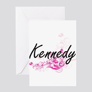 Kennedy surname artistic design wit Greeting Cards