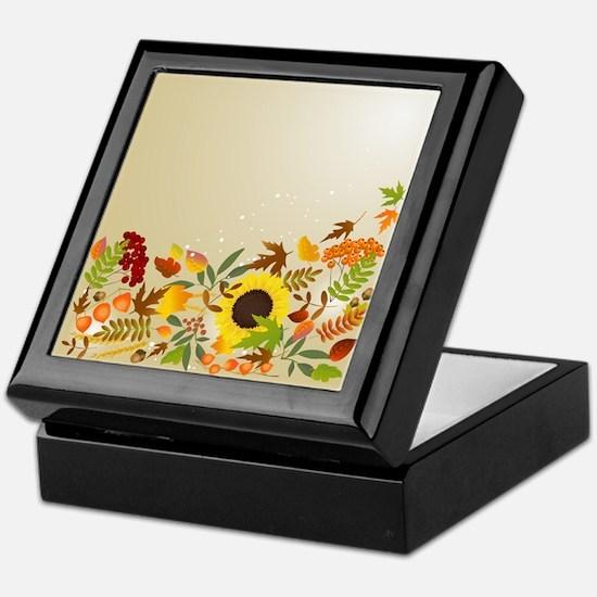Golden Thanksgiving Keepsake Box