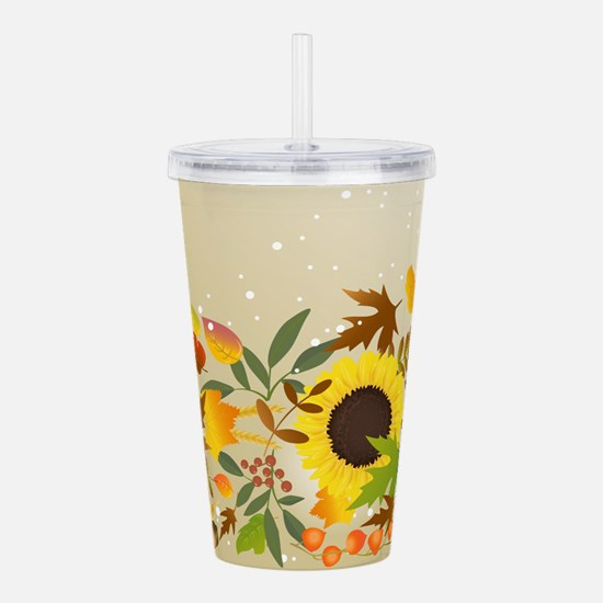Golden Thanksgiving Acrylic Double-wall Tumbler