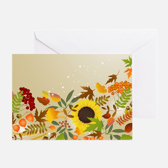 Golden Thanksgiving Greeting Card