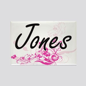 Jones surname artistic design with Flowers Magnets