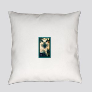 Cat-Funny-Humor-Art Everyday Pillow