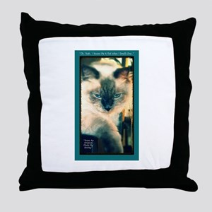 Cat-Funny-Humor-Art Throw Pillow