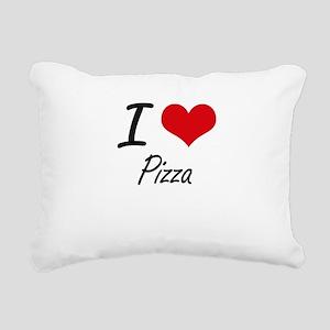 I Love Pizza Rectangular Canvas Pillow