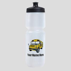School Bus Sports Bottle