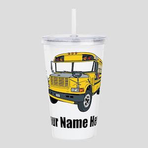 School Bus Acrylic Double-wall Tumbler