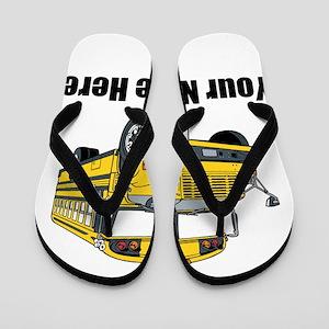 8a2baa8f4a72 School Bus Flip Flops - CafePress