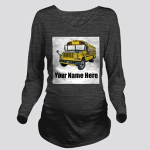 School Bus Long Sleeve Maternity T-Shirt