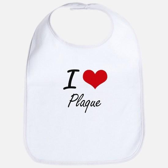 I Love Plaque Bib