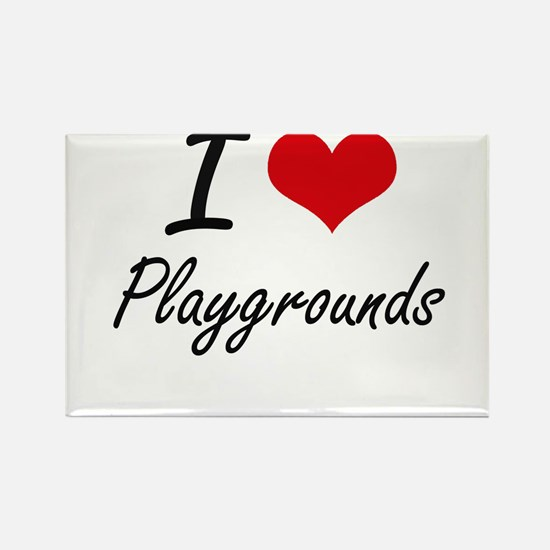 I Love Playgrounds Magnets