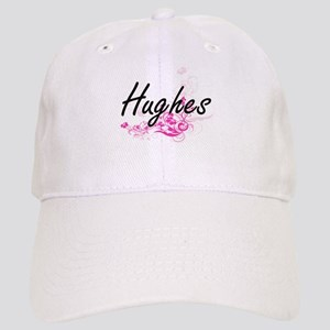 Hughes surname artistic design with Flowers Cap