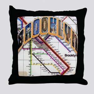 brooklyn logo with copy Throw Pillow