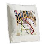 brooklyn logo with copy Burlap Throw Pillow