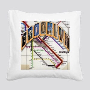 brooklyn logo with copy Square Canvas Pillow