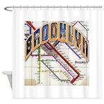 Brooklyn Logo With Copy Shower Curtain