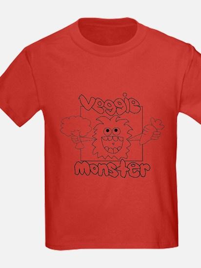 Kid's Veggie Monster T-Shirt (dark Colors)