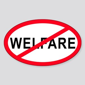 Anti-Welfare Oval Sticker