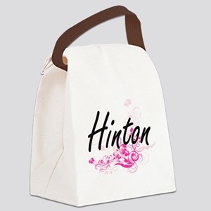 Hinton surname artistic design wi Canvas Lunch Bag