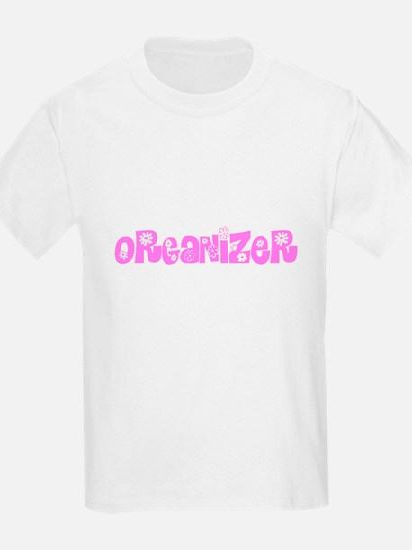 Organizer Pink Flower Design T-Shirt