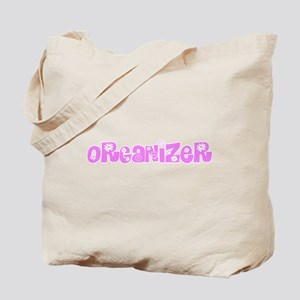 Organizer Pink Flower Design Tote Bag