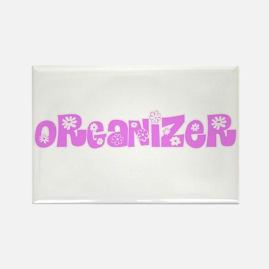 Organizer Pink Flower Design Magnets