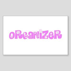 Organizer Pink Flower Design Sticker