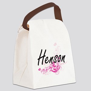 Henson surname artistic design wi Canvas Lunch Bag