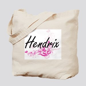 Hendrix surname artistic design with Flow Tote Bag