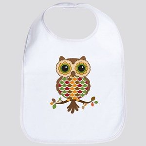 Owl with fall colors Bib