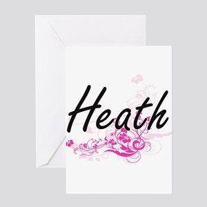 Heath surname artistic design with Greeting Cards
