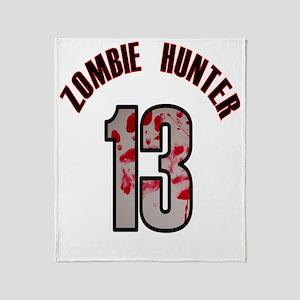 13 apocalypse zombie hunter Throw Blanket