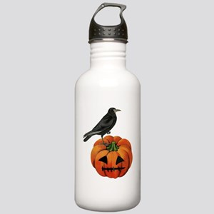 vintage halloween crow Stainless Water Bottle 1.0L