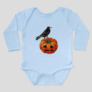 vintage halloween crow pumpkin Body Suit