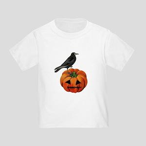 vintage halloween crow pumpkin T-Shirt