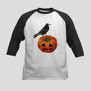 vintage halloween crow pumpkin Baseball Jersey
