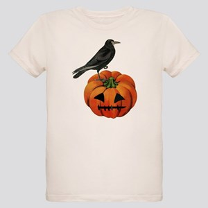 vintage halloween crow pumpkin T-Shirt