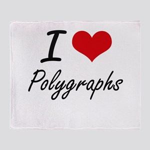 I Love Polygraphs Throw Blanket