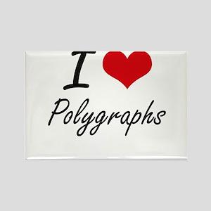 I Love Polygraphs Magnets