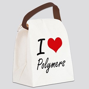 I Love Polymers Canvas Lunch Bag