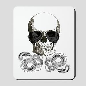 grunge steampunk skeleton skull Mousepad
