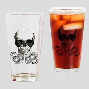 grunge steampunk skeleton skull Drinking Glass